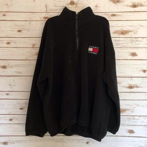 VTG Tommy Hilfiger Quarter Zip Fleece Pullover